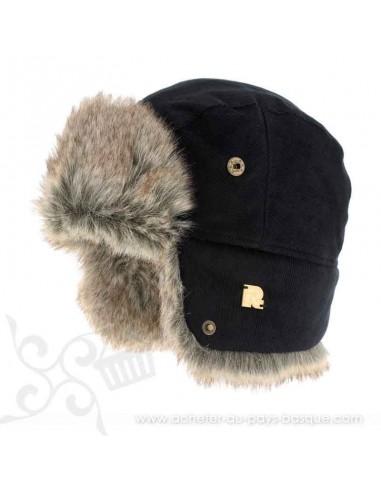 Chapka noir ICE 8518 Herman 1874 - Z'heros concept Biarritz - acheter bonnet basque