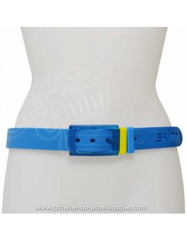 Ceinture bleu azur SKIMP l'originale - Z'heros concept Biarritz- acheter ceinture basque