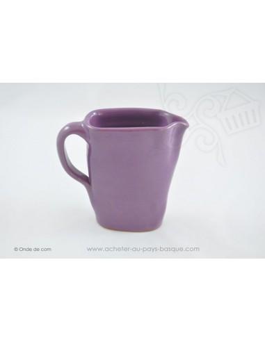 Pichet violet en céramique - Jean de la Terre - Ekibidea Cambo les Bains