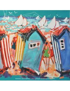 collection Patrick Plattier : Les cabanes - Tissus Ameublement - Tissus des Docks de la Negresse - Biarritz