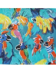 collection Patrick Plattier : Les perroquets - Tissus Ameublement - Tissus des Docks de la Negresse - Biarritz