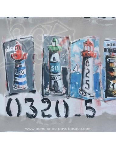 collection Patrick Plattier : Les phares - Tissus Ameublement - Tissus des Docks de la Negresse - Biarritz