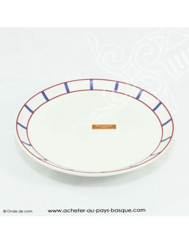 Assiette basque traditionnelle - vaisselle assiette plate basque -  livraison courses domicile