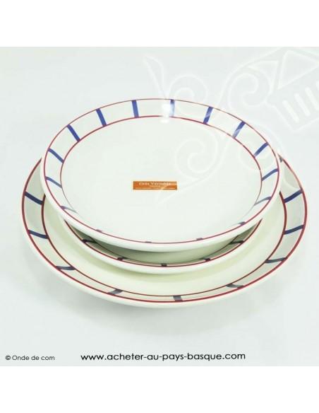 collection basque traditionnelle - vaisselle assiette plate basque -  livraison courses domicile