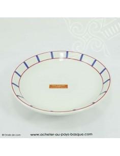 Assiette basque traditionnelle - vaisselle assiette creuse basque -  livraison courses domicile