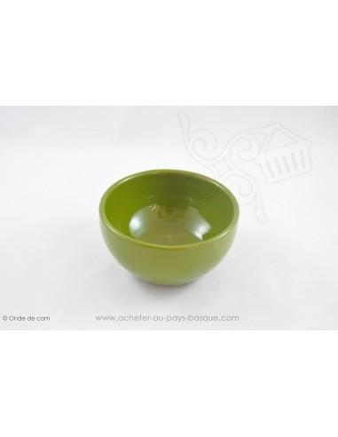 Bol à soupe Coupelle chinoise verte en Terre cuitede Jean de la Terre - Ekibidea Cambo les Bains
