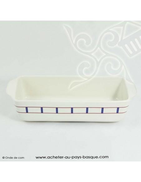 Moule à cake basque traditionnel - vaisselle collection basque - livraison courses domicile