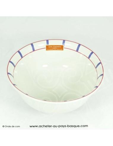 Saladier basque traditionnel - vaisselle collection basque - livraison courses domicile