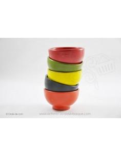 Bol à soupe Coupelle Chinoise couleurs - en Terre cuitede Jean de la Terre - Ekibidea Cambo les Bains