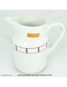 Pichet basque traditionnelle - vaisselle collection basque - livraison courses domicile