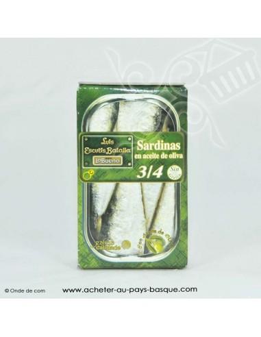 Sardines Espagnole à l'huile d'olive - Luis Escuris Batalla - sans gluten - livraison à domicile