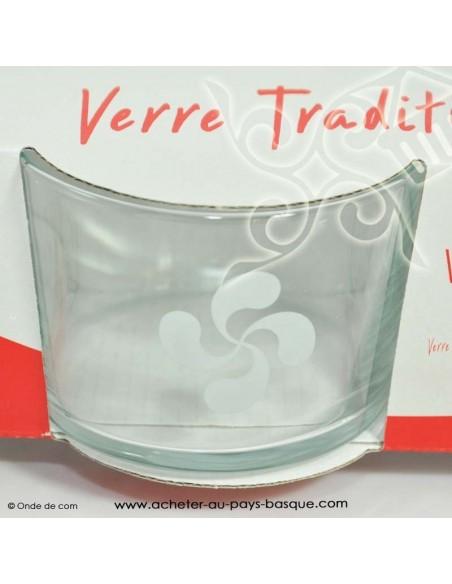 Verre bodega lot de 3 - vaisselle verre aperitif basque - livraison course à domicile