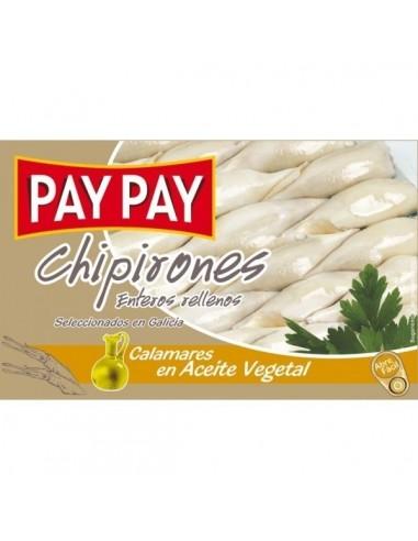 Chipirons Pay Pay entier - aperitif espagnol - livraison a domicile bayonne biarritz anglet
