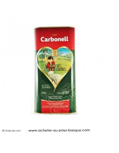 Huile d'olive Carbonell bidon 5 litres - espagnole cuisine conserve basque - livraison course à domicile