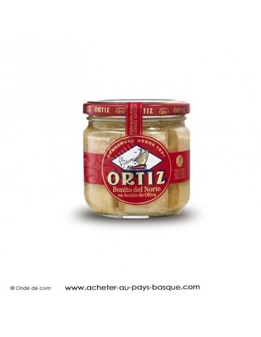 Bonite a l'huile d'olive Ortiz en bocal - espagnole cuisine conserve basque - livraison course à domicile