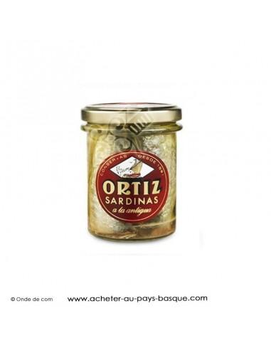 Sardines Ortiz huile d'olive bocal - conserve espagnole cuisine basque - livraison course à domicile biarritz bayonne
