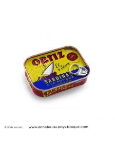 Sardines Ortiz en boite 140 g - espagnole cuisine conserve basque - livraison course à domicile bayonne biarritz anglet