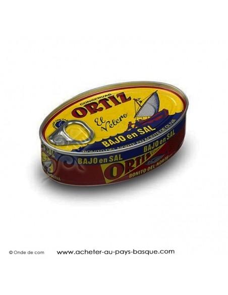 Bonite Ortiz à l'huile d'olive en conserve sans sel