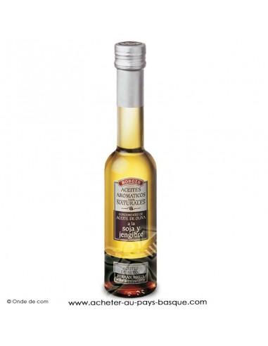 Huile d'olive aromatisé soja gingembre Borges 200 ml - espagnole cuisine - livraison course bayonne anglet biarritz