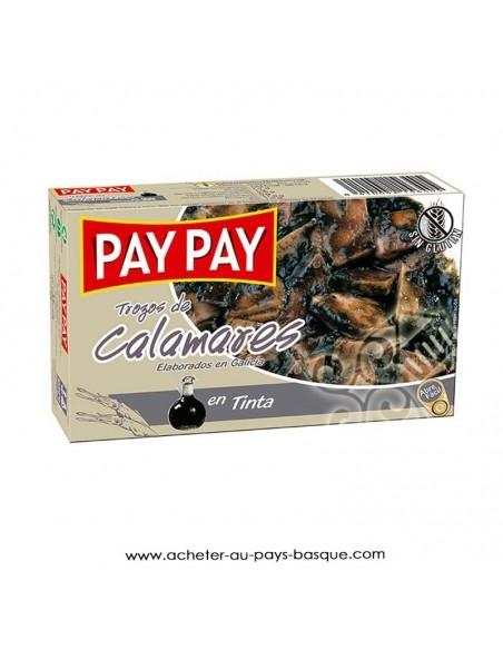 Calamars à l'encre Pay Pay - aperitif espagnol conserves - livraison a domicile bayonne biarritz anglet