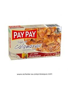 calamars americaine Pay Pay - aperitif espagnol conserve - livraison a domicile bayonne biarritz anglet