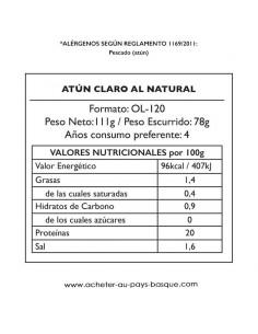 Conserve thon naturel Pay Pay - aperitif espagnol - livraison a domicile bayonne biarritz anglet