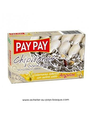 Chipirons anguilas Pay Pay - aperitif conserve espagnole - livraison a domicile bayonne biarritz anglet