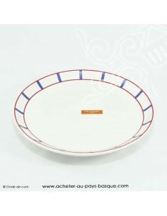 Lot Assiettes basque traditionnelles - lot service vaisselle assiette plate basque -  livraison courses domicile