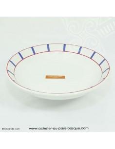 Lot assiettes creuses basque traditionnelles - vaisselle basque -  livraison courses domicile bayonne biarritz