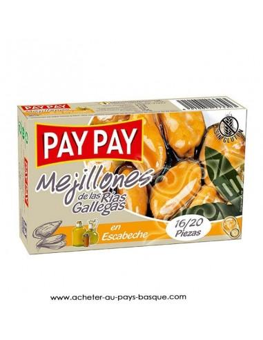Moule escabeche Pay Pay - aperitif conserve espagnole - livraison a domicile bayonne biarritz anglet