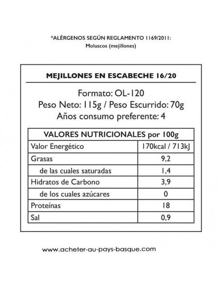 Moule escabeche Pay Pay valeur - aperitif conserve espagnole - livraison a domicile bayonne biarritz anglet