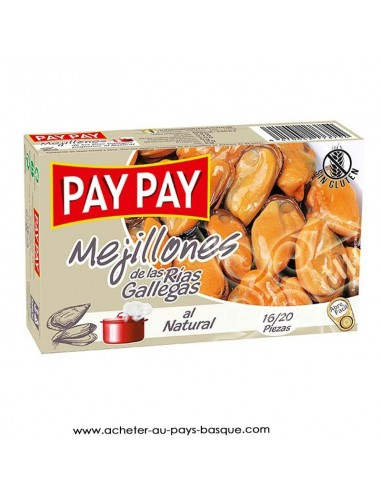 Moule naturelle Pay Pay - aperitif conserve espagnole - livraison a domicile bayonne biarritz anglet