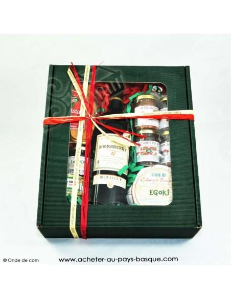 Coffret Gourmand Basque rouge 2 - boutique produit regionaux - Basco'thentic Bidart - livraison de course bayonne anglet