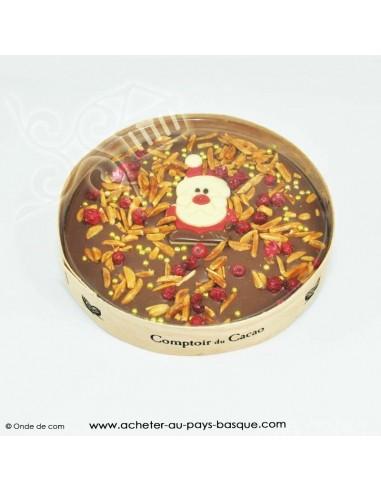 Palet 3 parfums gourmand du Père-Noël - noir blanc lait ganache praline - xokola etxetera bayonne livraison a domicile