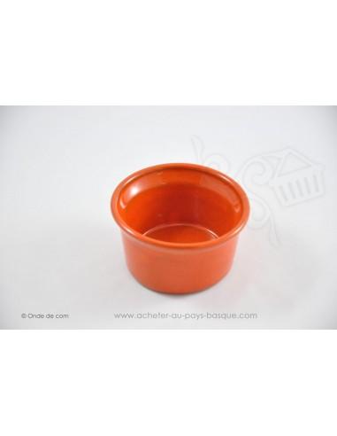Ramequin orange - céramique de Jean de la Terre - Ekibidea Cambo les Bains