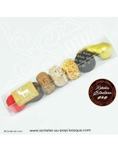 Reglette chocolats décorés - gourmandises de Noël - assortiment chocolat noir lait - xokola etxetera bayonne