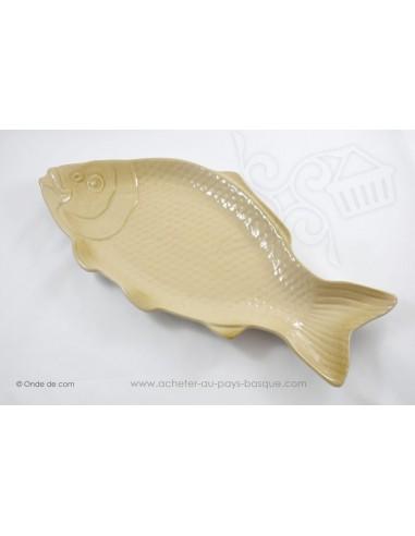 Plats à service poissons blanc cassé - en terre cuite - Jean de la Terre - Ekibidea Cambo les Bains