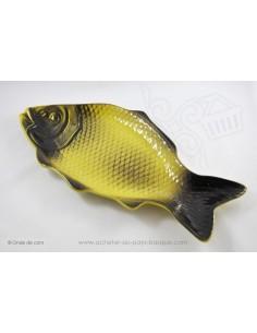 Plats à service poissons jaune et noir - en terre cuite - Jean de la Terre - Ekibidea Cambo les Bains