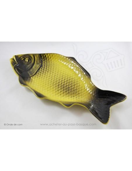 Plat à service poisson en terre cuite