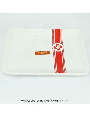 assiette  basque chic - vaisselle traditionnelle croix laburu - livraison courses domicile