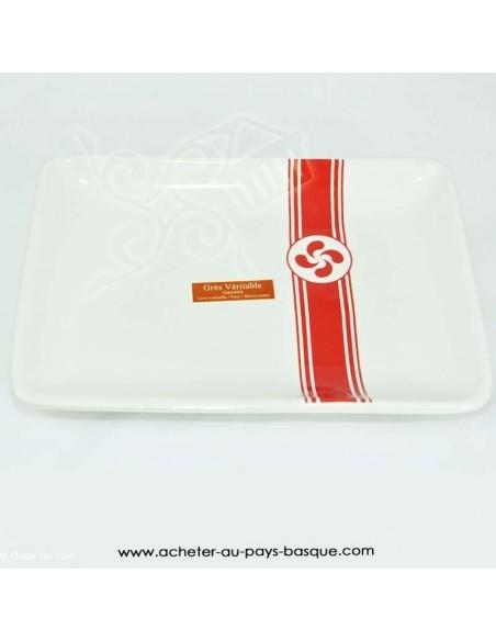 Assiette croix Basque