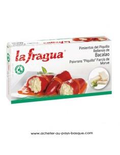 conserve Piquillos à la morue la fragua - aperitif conserve espagnole - epicerie produits espagnols - livraison a domicile