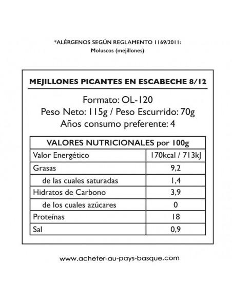 Moule escabeche picante valeur Pay Pay - conserve epicerie produits espagnols - livraison a domicile bayonne biarritz anglet