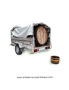 Location txotx mobile - cidre basque Kupela - livraison remorque evenement repas de fete