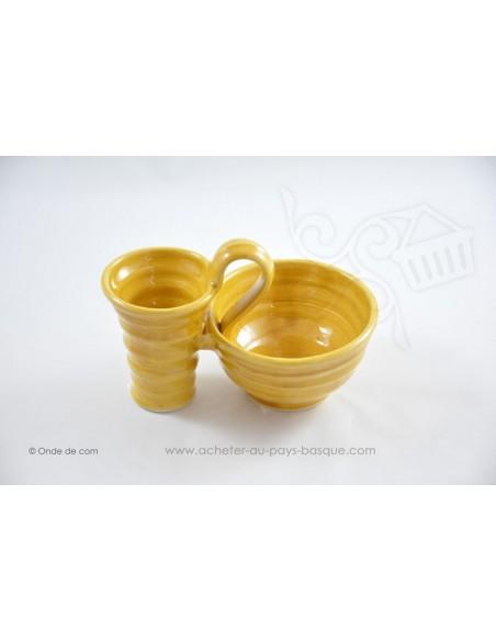 Ramequin L'olive et son noyau jaune - Terre cuite de Jean de la Terre - Ekibidea Cambo les Bains