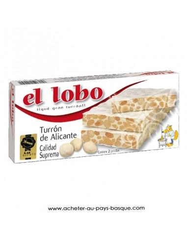Nougat dur alicante El Lobo - touron turron espagnol - epicerie sucrée espagnole - produits espagnols