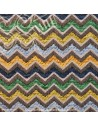Tissus jacquard zig-zag - Tissu thevenon ameublement - recouvrement meuble patchwork - Dock Negresse Biarritz