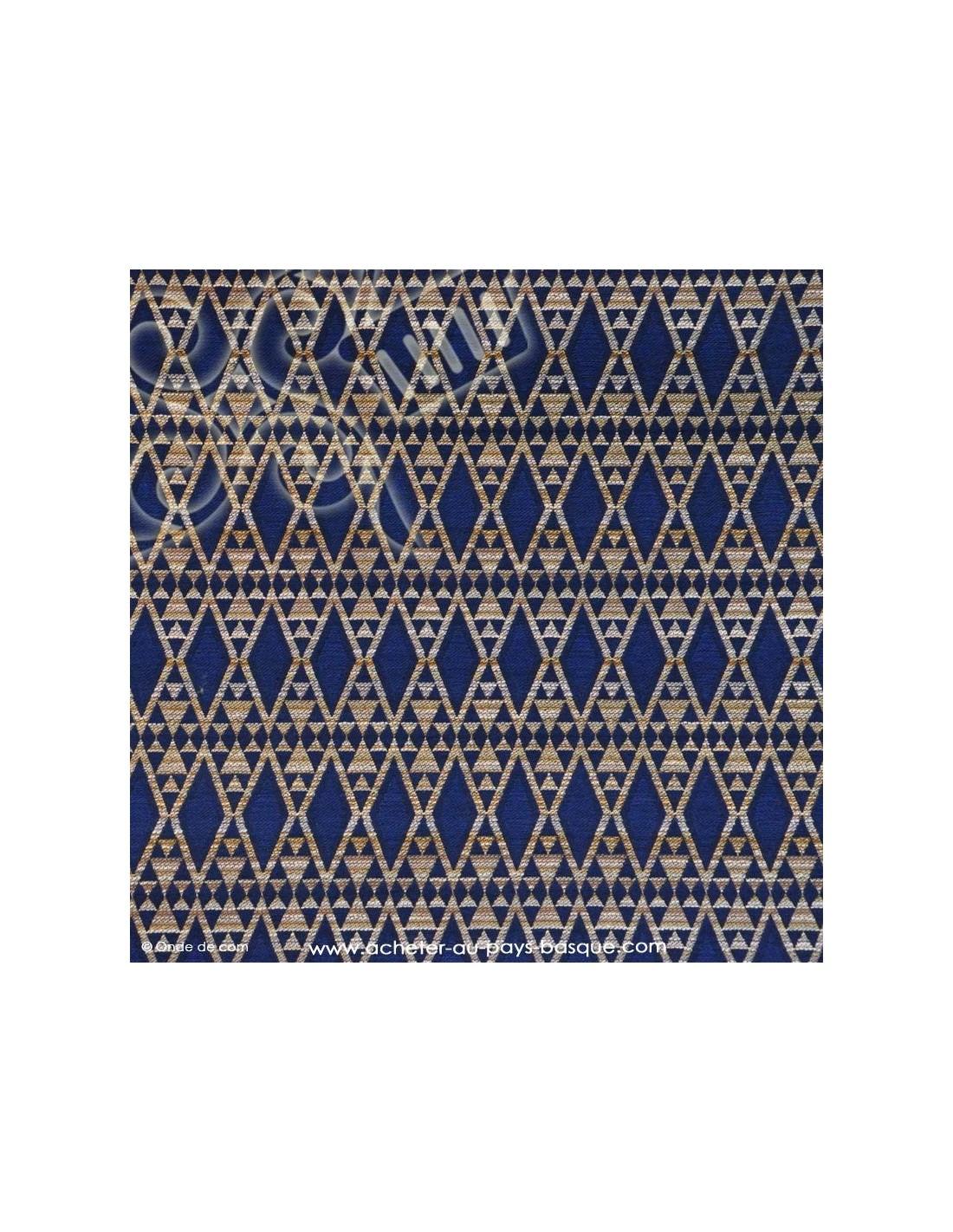 tissu brocard bleu tissu ameublement docks negresse biarritz. Black Bedroom Furniture Sets. Home Design Ideas