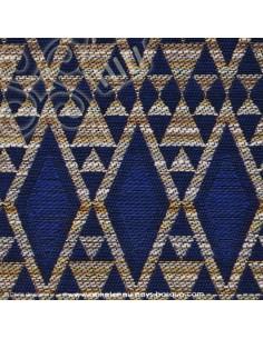 Tissus brocard bleu - Tissu ameublement - recouvrement meuble patchwork - Dock Negresse Biarritz