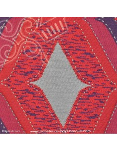 Tissus brocard violet rouge or - Tissu ameublement - recouvrement meuble patchwork - Dock Negresse Biarritz